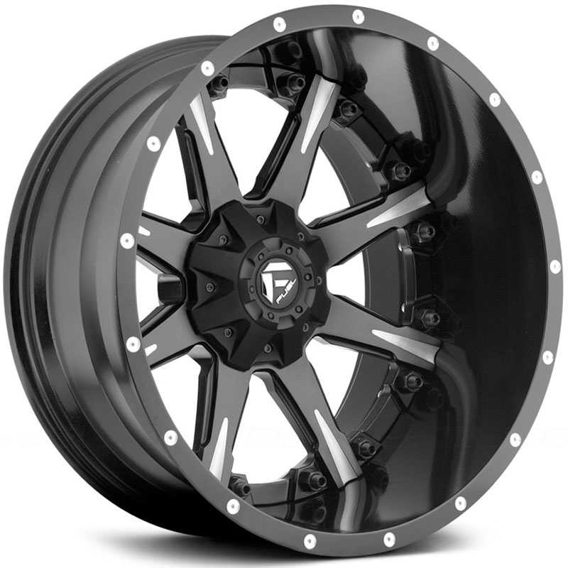 Fuel D251 Nutz  Wheels Black Milled