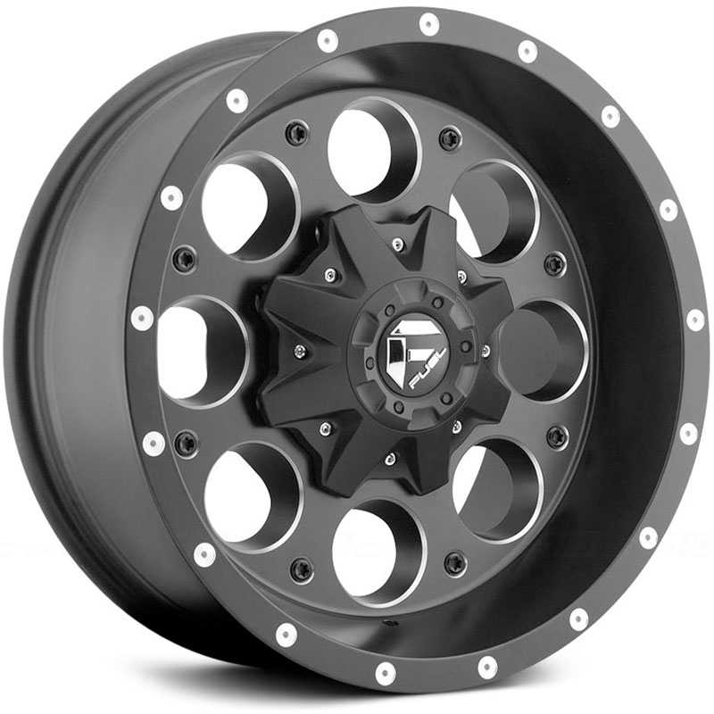Fuel D525 Revolver  Wheels Matte Black Milled