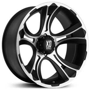 18x9 KMC XD Series XD801 Crank Matte Black Machined RWD