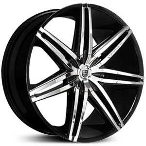 Lexani Johnson II  Wheels Black and Machined