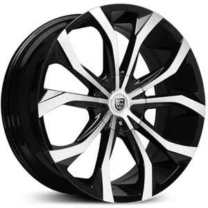 Lexani Lust  Wheels Black and Machined