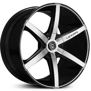 Lexani R-6  Wheels Black and Machined