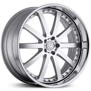 Mandrus Velo  Wheels Silver Machined w/ Chrome Lip