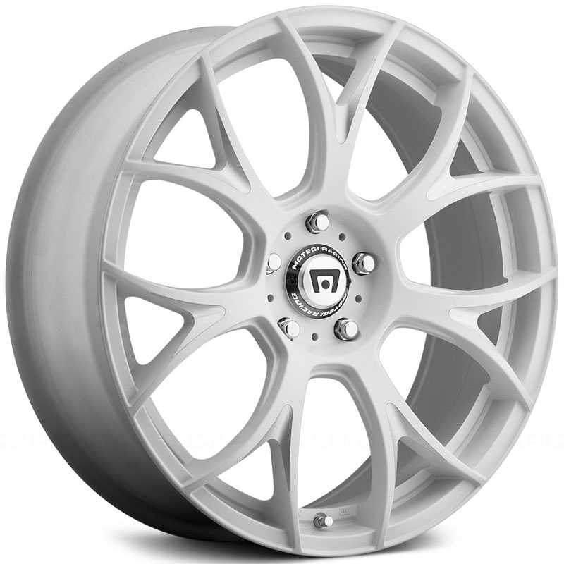 Motegi Racing MR126  Wheels Matte White Milled