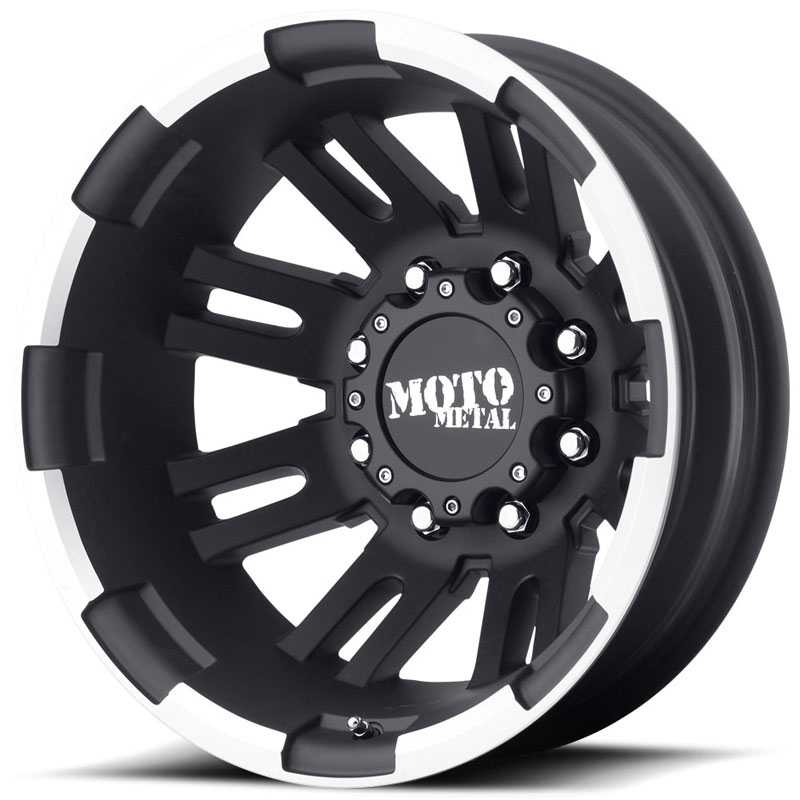 MO963 Rear Dually Matte Black Machined