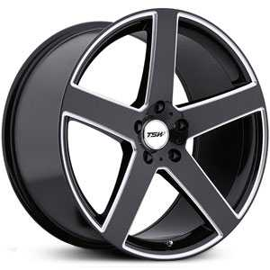 TSW Rivage  Wheels Gloss Black w/ Milled Spokes