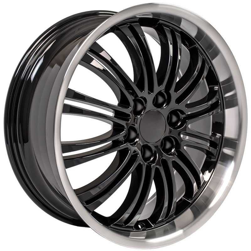 Cadillac Escalade Style (CA81)  Wheels Black w/Machined Lip