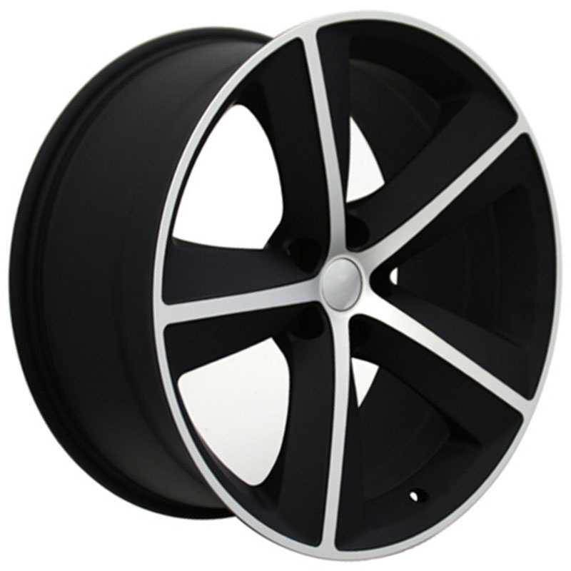 Dodge Challenger SRT Style (DG05)  Wheels Matte Black w/Machined Face