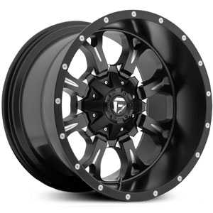 Fuel D517 Krank  Wheels Black Milled Deep Lip