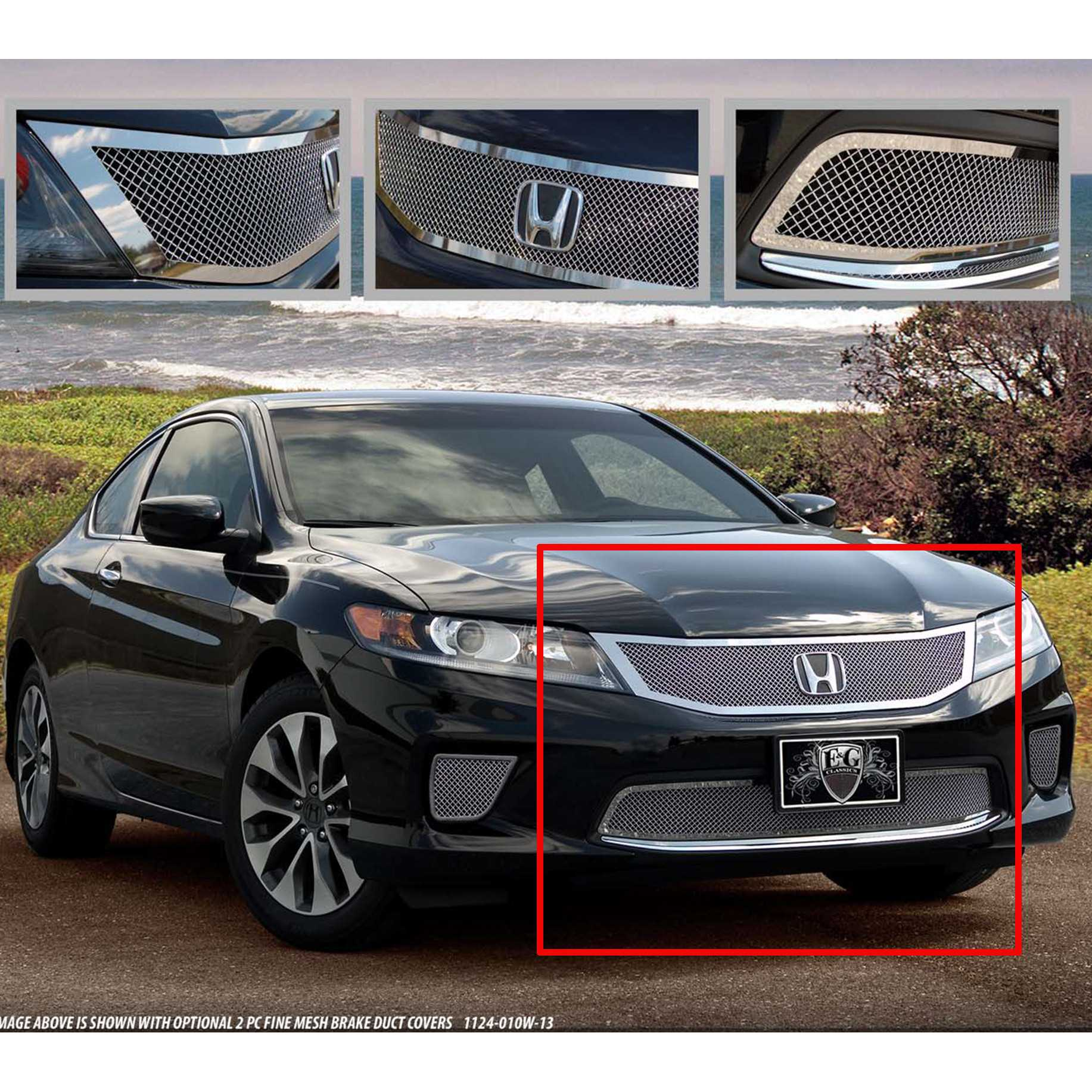 E G Clics 2017 Honda Accord Grille 2 Pc Fine Mesh 1124 0102 13