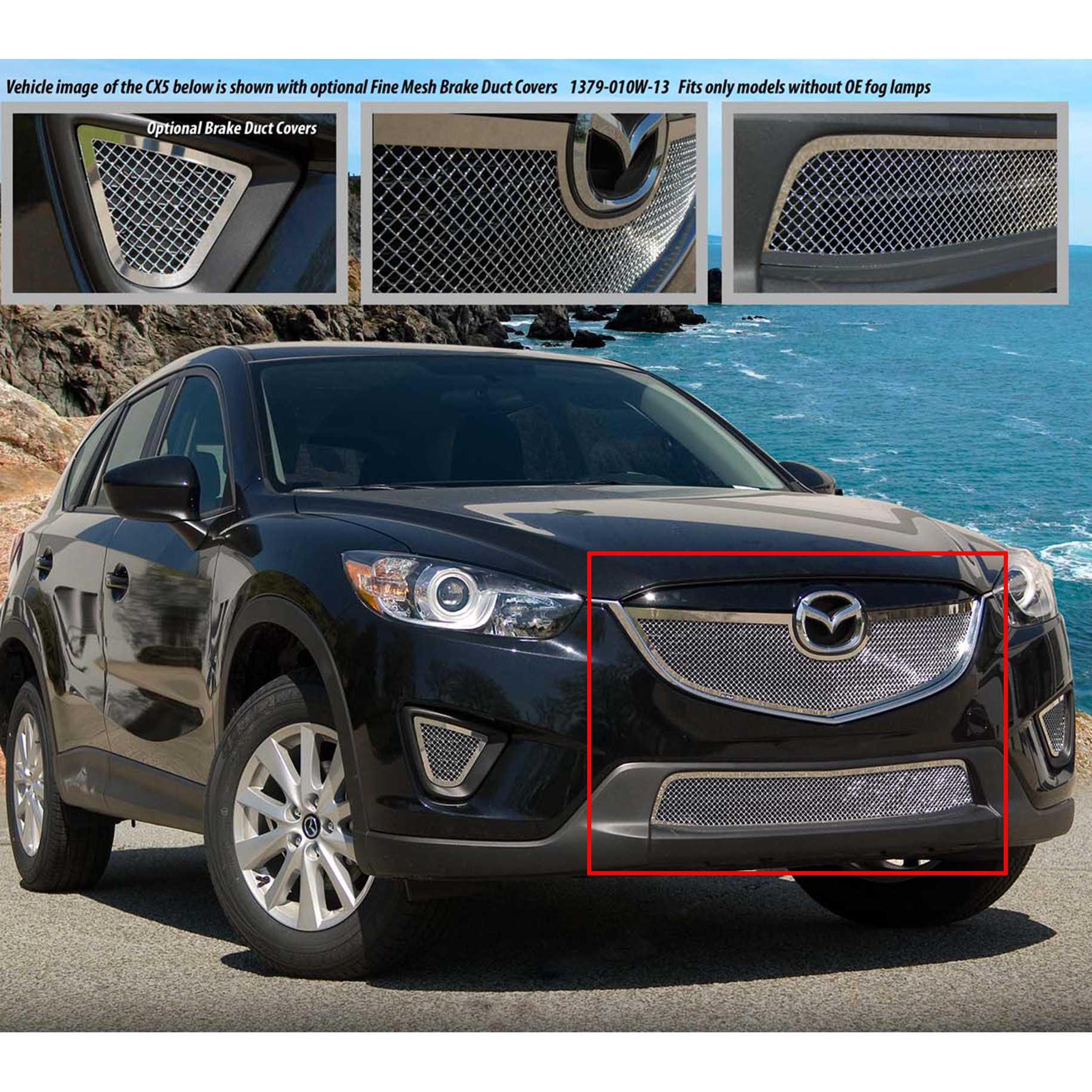 E&G Classics 2013-2015 Mazda CX5 Grille 2Pc Fine Mesh