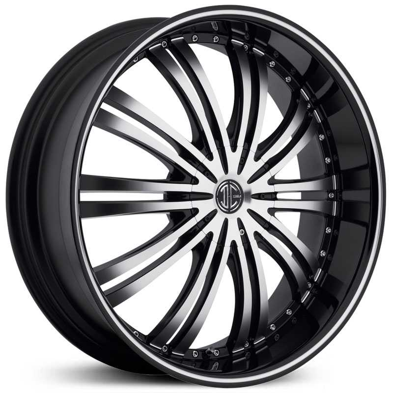 2Crave No 01  Wheels Glossy Black / Machined Face / Glossy Black Lip