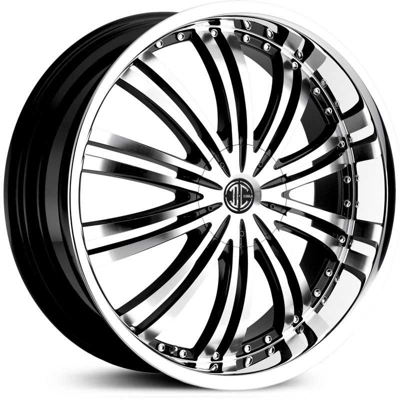 20x7.5 2CRAVE N01 Glossy Black / Machined Face / Chrome Lip HPO