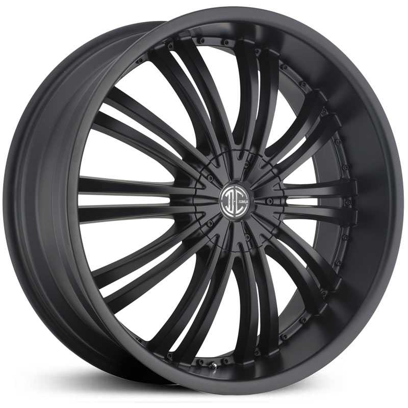 22x8.5 2CRAVE N01 Satin Black / Black Rivets RWD