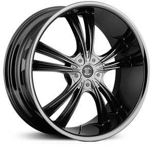 18x7.5 2CRAVE N02 Black Chrome HPO