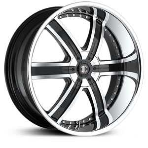 24x10.0 2CRAVE N04 Glossy Black / Machined Face / Chrome Lip RWD