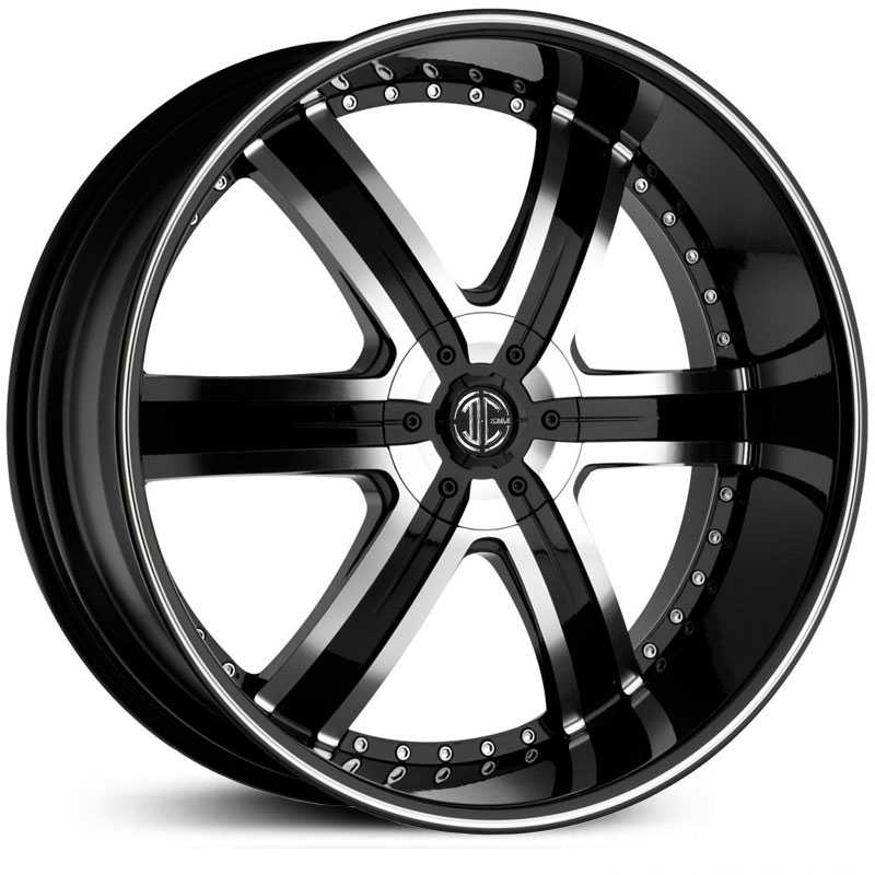 24x10.0 2CRAVE N04 Glossy Black / Machined Face / Machined Lip RWD