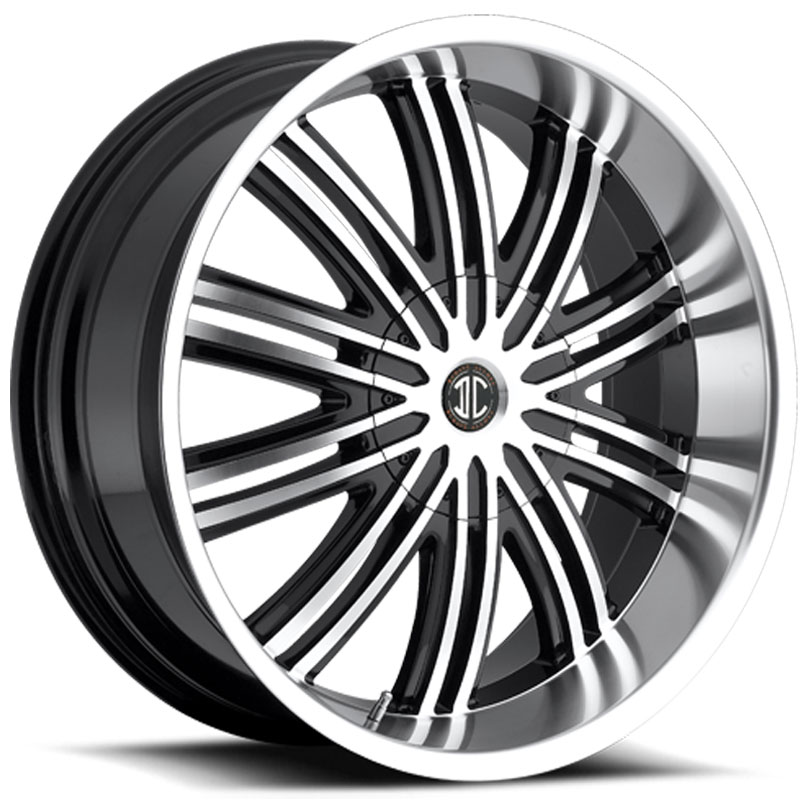 22x9.5 2CRAVE N07 Glossy Black / Machined Face / Machined Lip MID