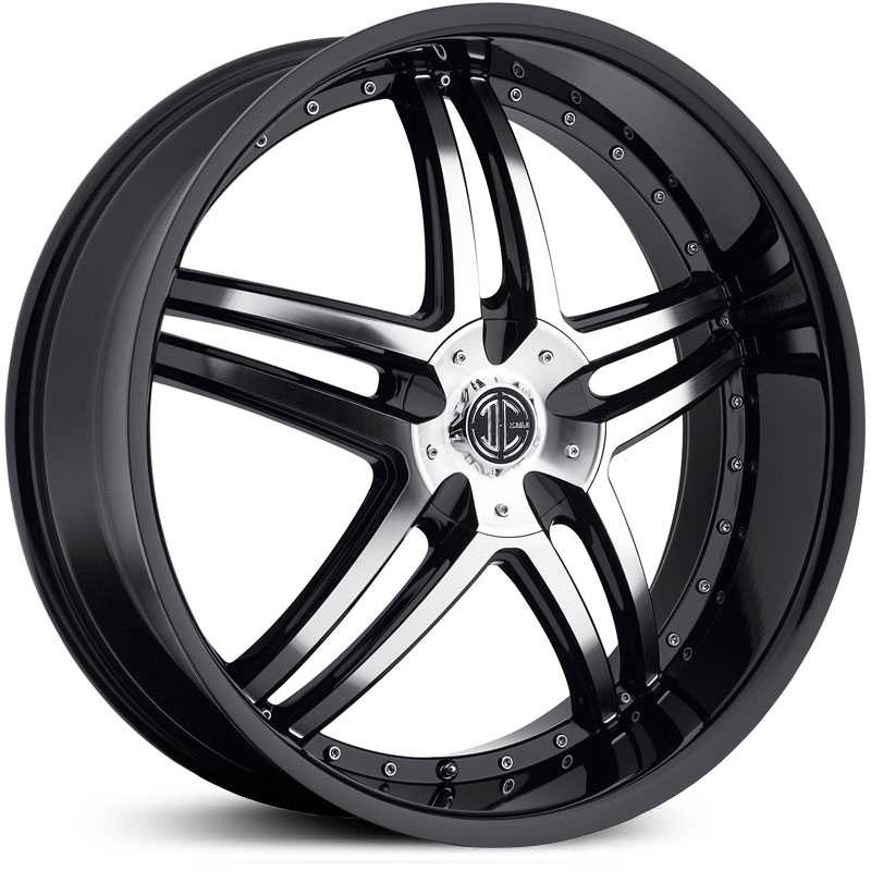22x10.5 2CRAVE N17 Glossy Black / Machined Face / Glossy Black Lip MID