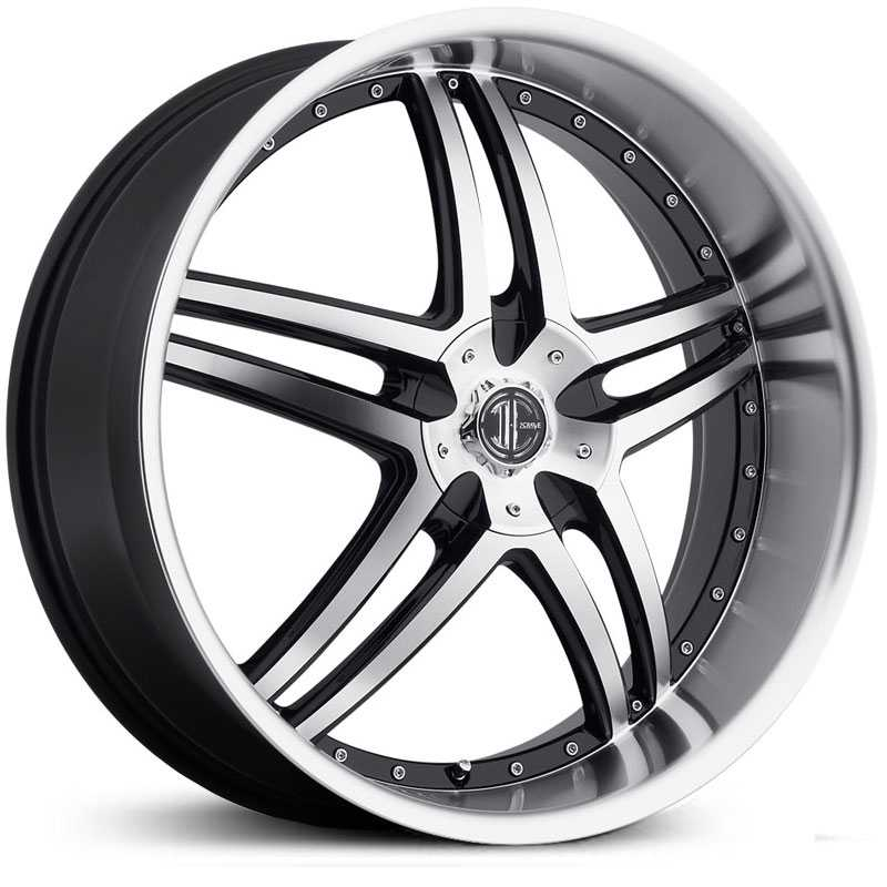 22x9.0 2CRAVE N17 Glossy Black / Machined Face / Chrome Lip RWD