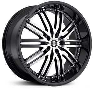 20x10.0 2CRAVE N22 Glossy Black / Machined Face / Glossy Black Lip MID