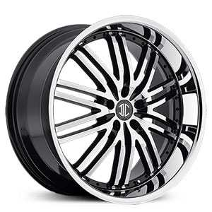 20x8.5 2CRAVE N22 Glossy Black / Machined Face / Chrome Lip HPO