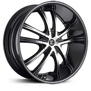 18x7.5 2CRAVE N24 Black Chrome HPO