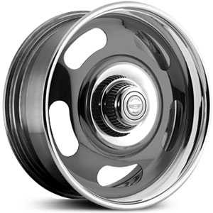 American Racing Vintage Ralley VN327 2 Piece  Wheels Gray w/ Polished Barrel