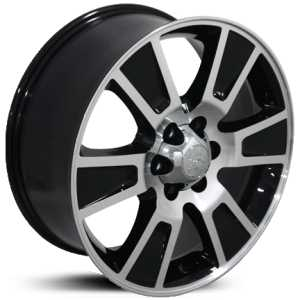 Fits Ford F-150 Style  Wheels Black Machined Face