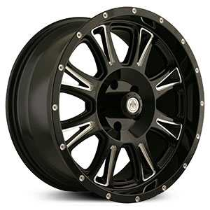 17x9 Mayhem Hammer 8050 Black Machined REV