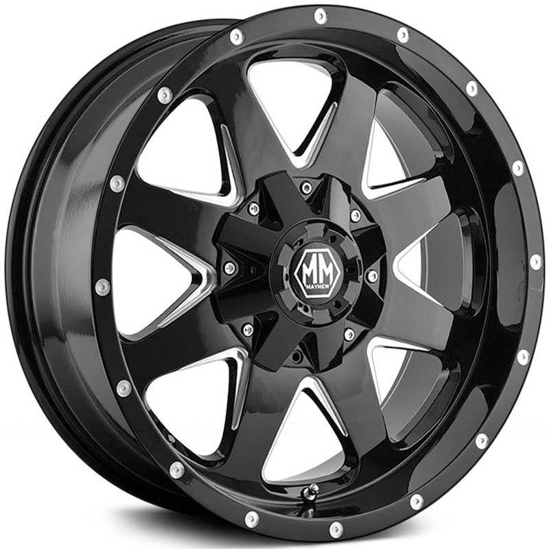 Mayhem Tank 8040  Wheels Black Machined