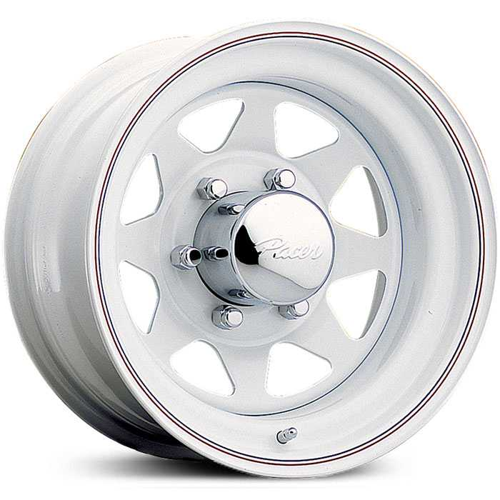 Pacer 310W White Spoke  Wheels White