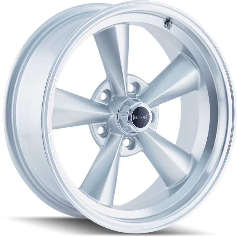 Ridler 675  Wheels Silver w/ Machined Lip