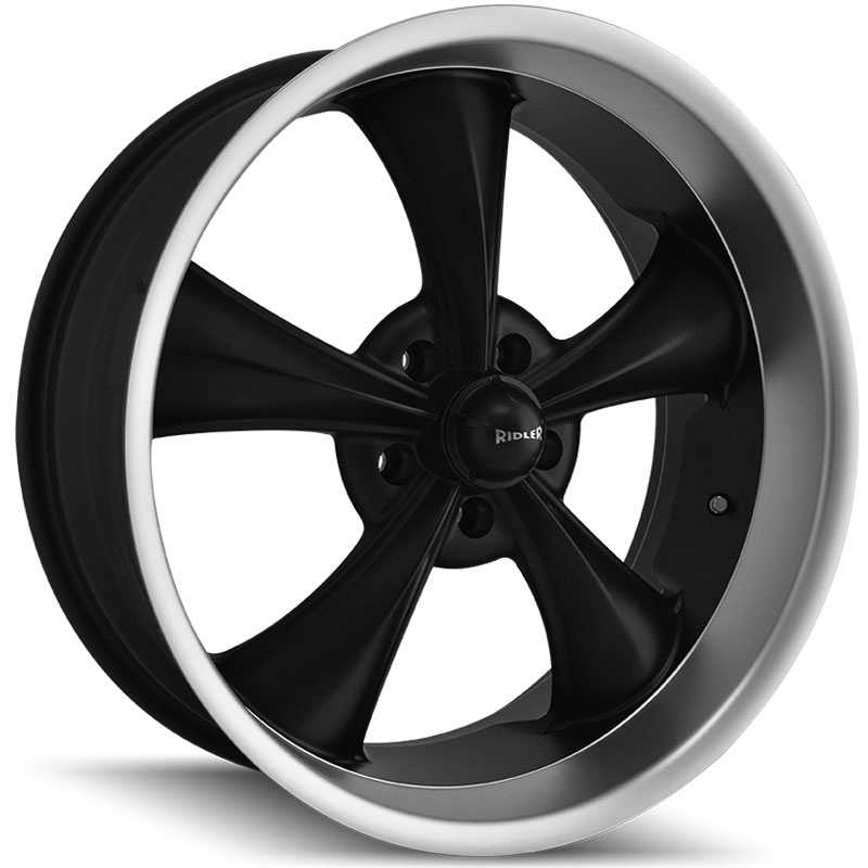 Ridler 695  Wheels Matte Black w/ Machined Lip