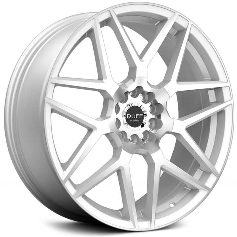 Ruff Racing R351  Wheels Hyper Silver w/ Machined Face