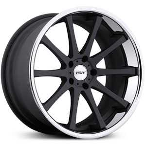 TSW Jerez MP  Wheels Matte Black w/ SS Lip