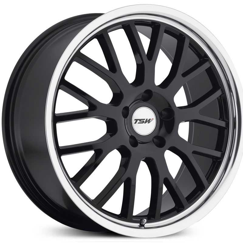 TSW Tremblant  Wheels Gloss Black w/ Mirror Cut Lip