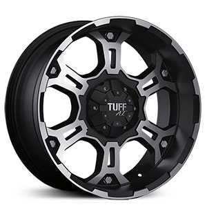 Tuff All Terrain T03  Wheels Flat Black w/ Machined Face & Flange