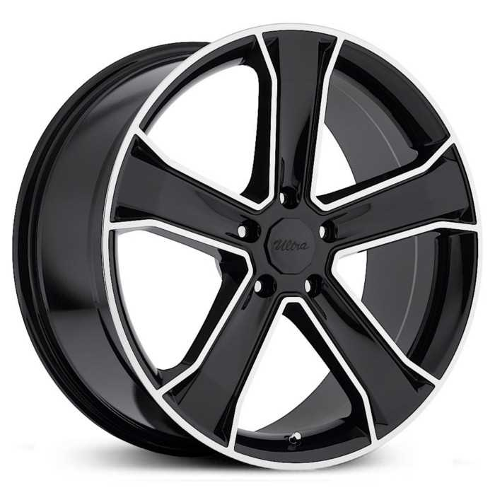 Ultra 423GB Knight  Wheels Gloss Black w/ Diamond Cut
