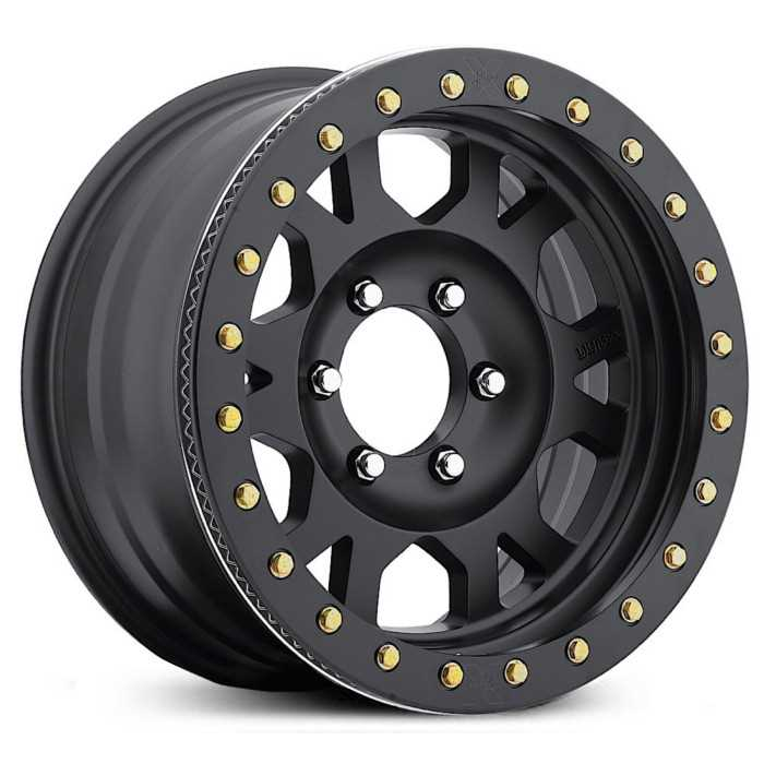 Ultra 103B Xtreme X103 Offroad ONLY  Wheels Satin Black w/ Satin Black Beadlock
