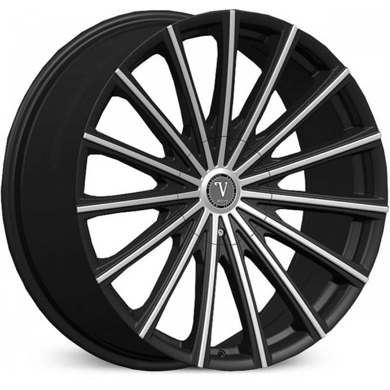 Velocity VW-10  Wheels Black Machined