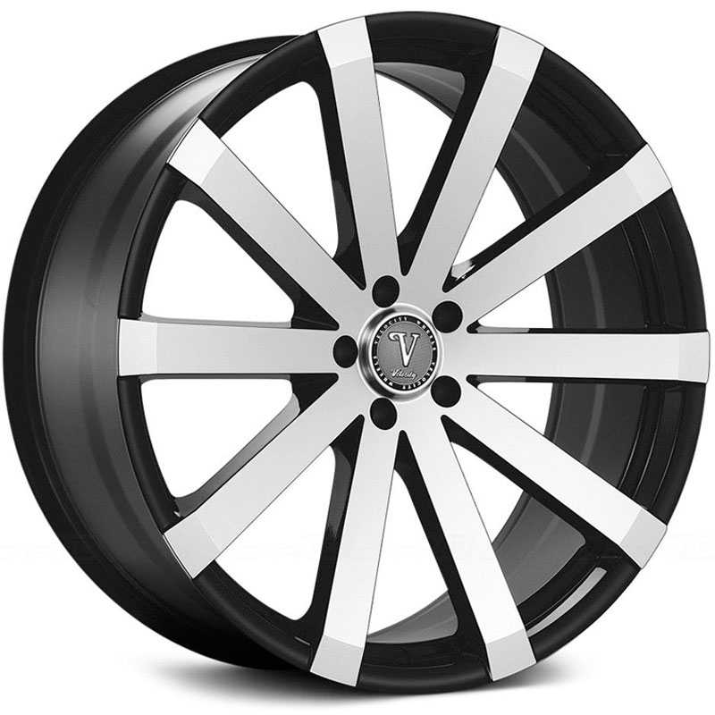 Velocity VW-12A  Wheels Black Machined