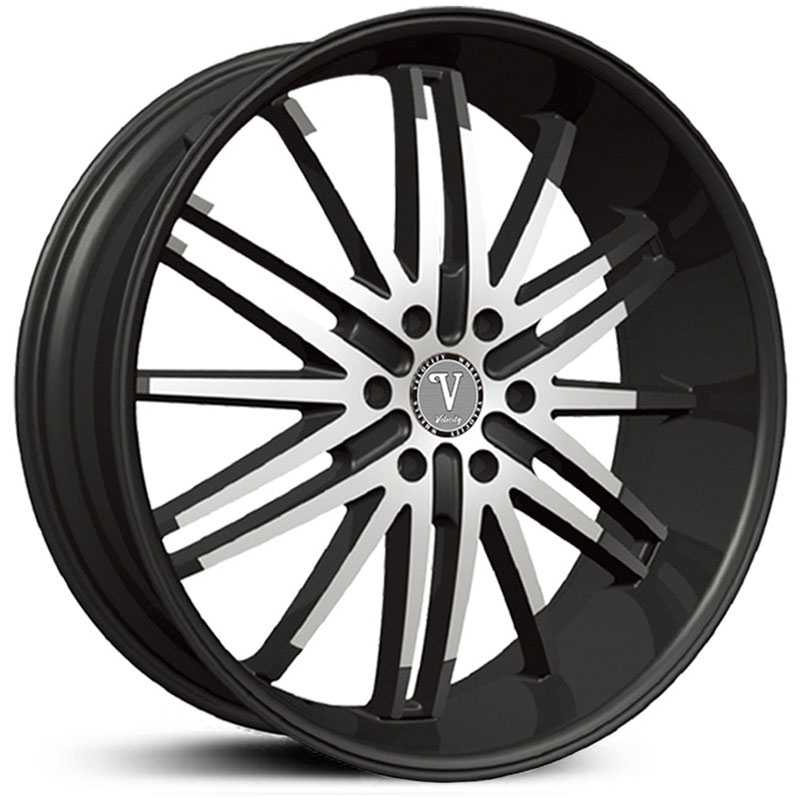 Velocity 910B  Wheels Black Machined Milled Lip