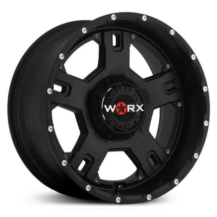 Worx Alloy 802SB Havoc Satin Black w/ Spot Milled Accents