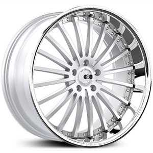 XO Luxury New York X130  Wheels Matte Silver w/ Brushed Face & SS Lip