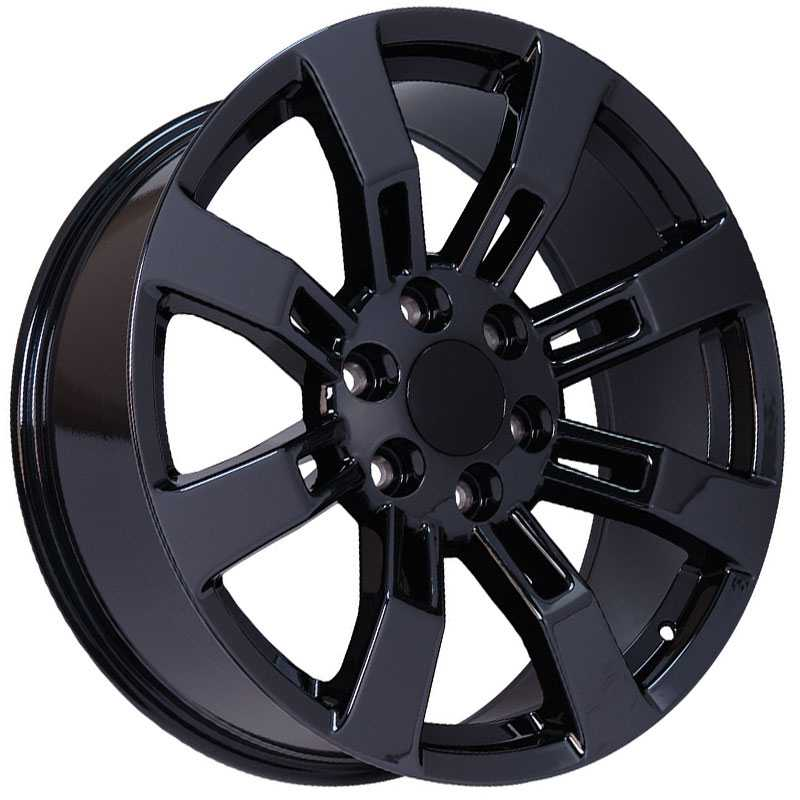 Cadillac Escalade Style (CA82)  Wheels Black Chrome PVD
