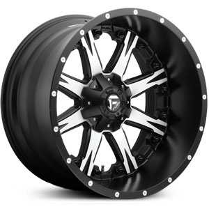 Fuel D541 Nutz Deep Lip  Wheels Matte Black Machined