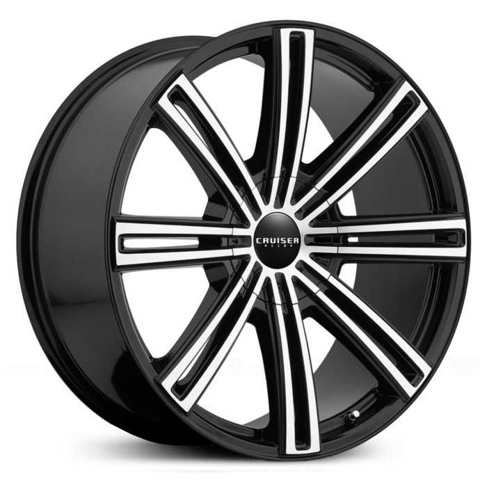 Cruiser Alloy 916MB Obsession  Wheels Mirror Machined Face w/ Gloss Black Accents