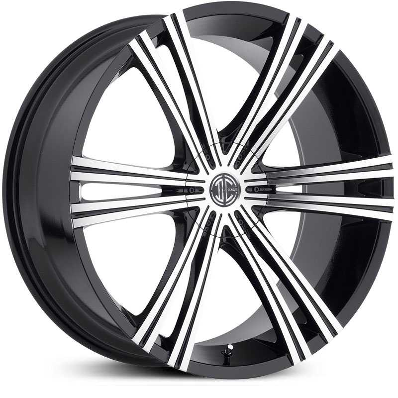 22x9.0 2Crave N28 Glossy Black/Machined Face MID