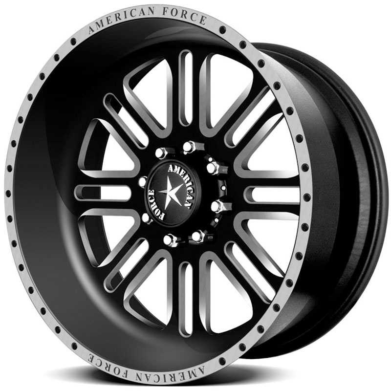 American Force ALPHA SF8  Wheels Flat Black